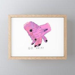 GO AWAY Framed Mini Art Print