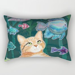 Dreamy Cat Rectangular Pillow