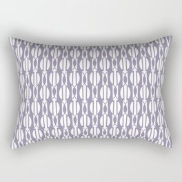 NIGH mauve and white weave a smock pattern Rectangular Pillow