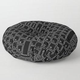Keyboarded BLACK Floor Pillow