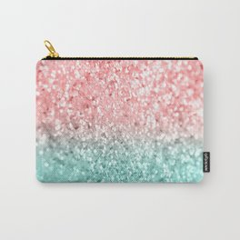 Summer Vibes Glitter #3 #coral #mint #shiny #decor #art #society6 Carry-All Pouch