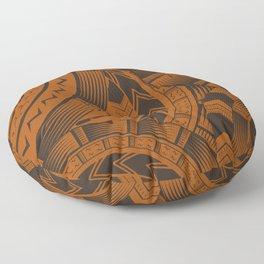UrbanNesian Brown Tatau Design Floor Pillow