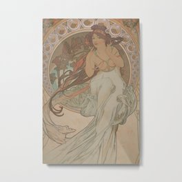 Alfons Mucha / Holmstad flot Metal Print