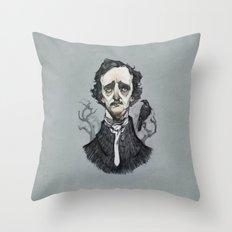 Mr. Poe  Throw Pillow