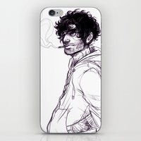 grantaire iPhone & iPod Skins featuring Grantaire by batcii
