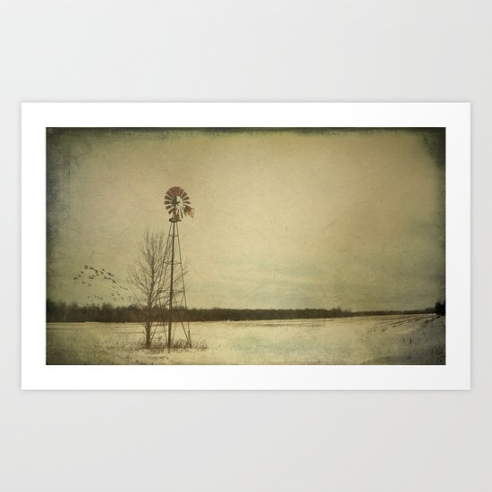 While the wind moans a dirge to a coyote's cry... Art Print