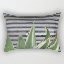 cactus and textured wall Rectangular Pillow