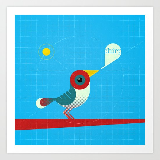 O passarinho colorido Vrsn. 01 Art Print