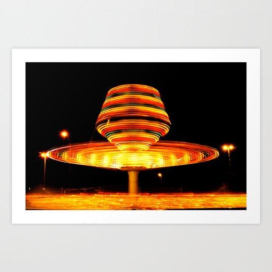 Around We Spin Art Print