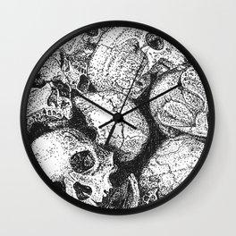 Pile o' Skullies Wall Clock