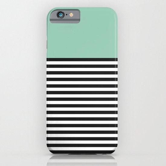 STRIPE COLORBLOCK {MUTED JADE} iPhone & iPod Case