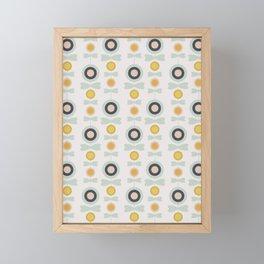 Retro pattern no 7 Framed Mini Art Print