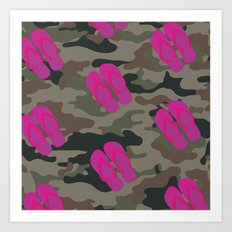 I saw Cady Heron wearing army pants and flip flops ... - quote from Mean Girls Art Print