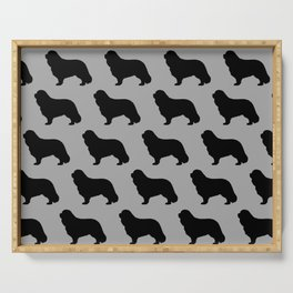 Cavalier King Charles Spaniel Silhouette Serving Tray