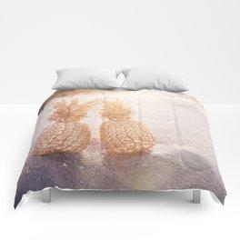 Golden Pineapples Comforters