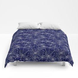 Midnight Cobwebs Comforters