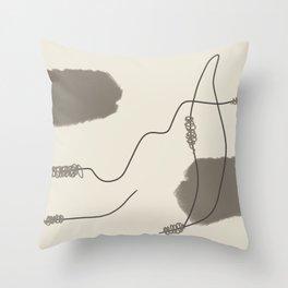 Minimal Line Art 005 Throw Pillow