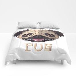 Triangular Geometric Pug Head Comforters