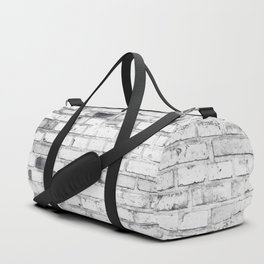 Withe brick wall Duffle Bag
