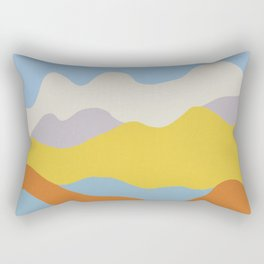 Over The Sunset Mountains Rectangular Pillow