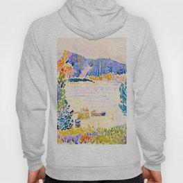 Henri-Edmond Cross Neo-Impressionism Pointillism Cap Nègre 1909 WatercolorPainting Hoody