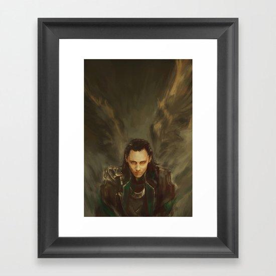 Descension Framed Art Print