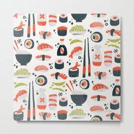 Sushi Dreams – White Metal Print