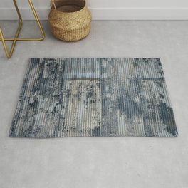 Warehouse District -- Vintage Industrial Farm Chic Abstract Rug