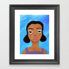 Sad Eyes Framed Art Print