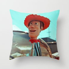 Woody rolls again! Throw Pillow