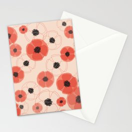 Poppy Pattern MT Stationery Cards