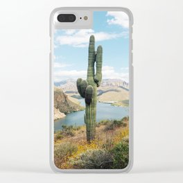 Arizona Saguaro Clear iPhone Case