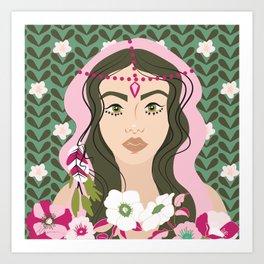 Floral & Feminine - Strength Art Print