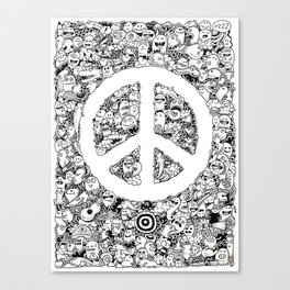 Peace Doodle Canvas Print