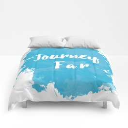 Journey Far Paint Splatter Comforters