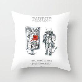 Astro Series - Taurus Throw Pillow