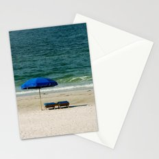 Beach Umbrella Trio Stationery Cards