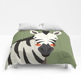 Zebra, Animal Portrait Comforters