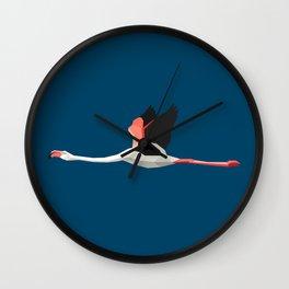 Paper flamingo Wall Clock