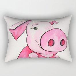 Trotters McPink the ballet dancing pig. Rectangular Pillow