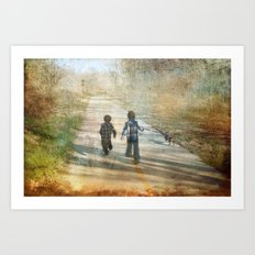 The Road of Life Art Print