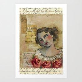 roses in full bloom  Art Print