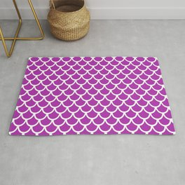 Scales (White & Purple Pattern) Rug