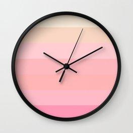 Soft Stripes Wall Clock