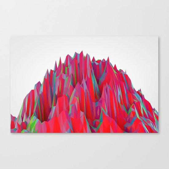 Cristal Mountain  Canvas Print