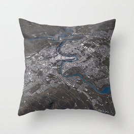 Bern - city map Throw Pillow