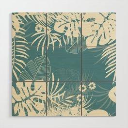 Tropical pattern 047 Wood Wall Art