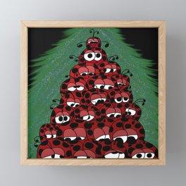 The Ladybug Holiday Fest Framed Mini Art Print