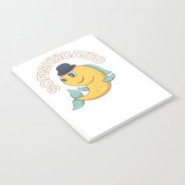 Cute & Funny Sofishticated Fish Pun Notebook