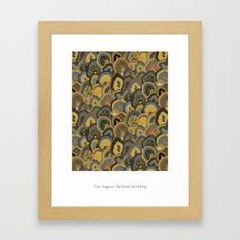 Tree Huggers in Gold Framed Art Print